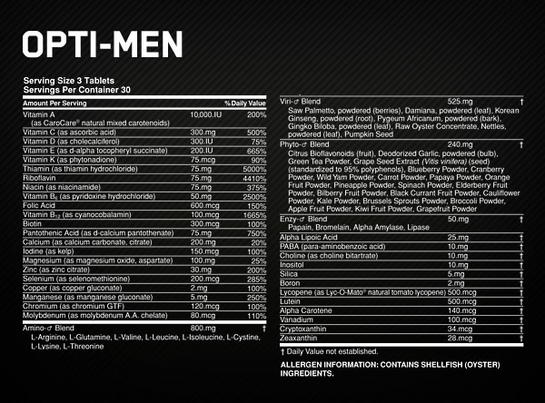 Optimum Nutrition Opti - Men 180 т